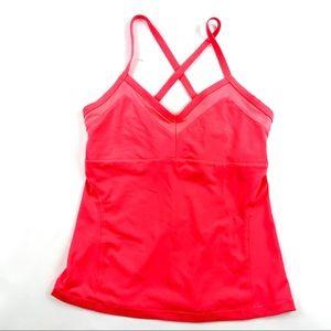 ALO Yoga Strappy Back V Neck Sports Bra Tank Top